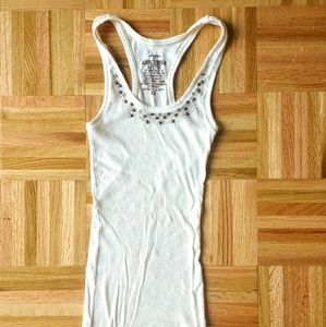 White Sequin XS Abercrombie Tank Top